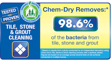 Chem-Dry of NW Arkansas removes 98.6% of Bacteria From Stone, TIle and Grout in Fayetteville AR