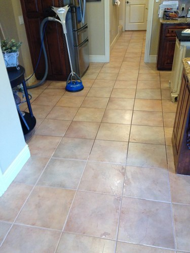 cleaned tile with protectant applied in Fayetteville AR