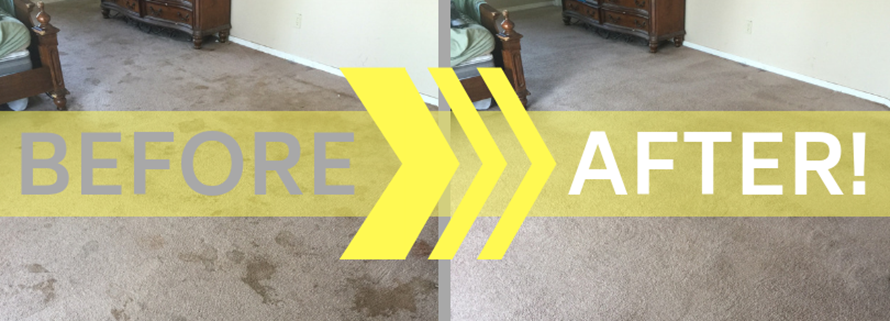 before and after carpet cleaning results in Fayetteville AR