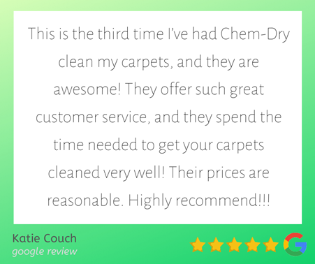 chemdry of nw arkansas google review