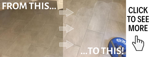 before and after tile and grout cleaning services in Fayetteville AR